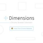 Dimensions – Extension ไม้บรรทัดสำหรับวัดขนาดและระยะห่างต่างๆบน Browser